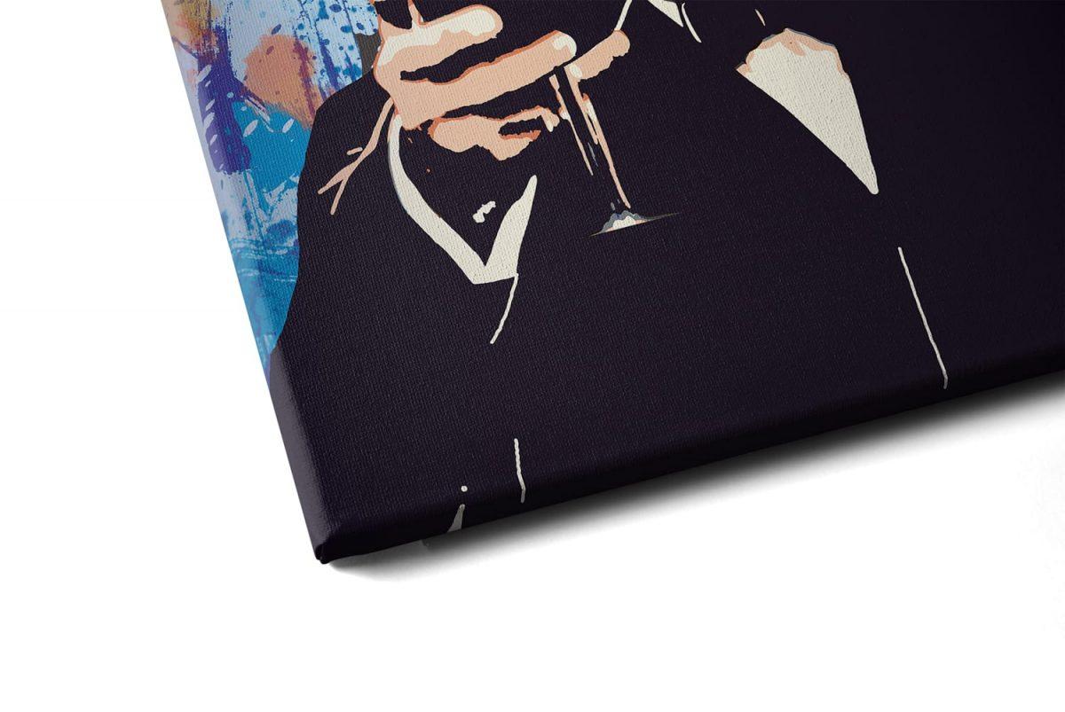 Quadro O Incrível Gatsby em tela com detalhe a esquerda