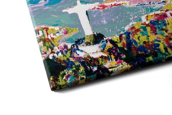 Quadro O Rio de Janeiro Continua Lindo em tela com detalhe a esquerda