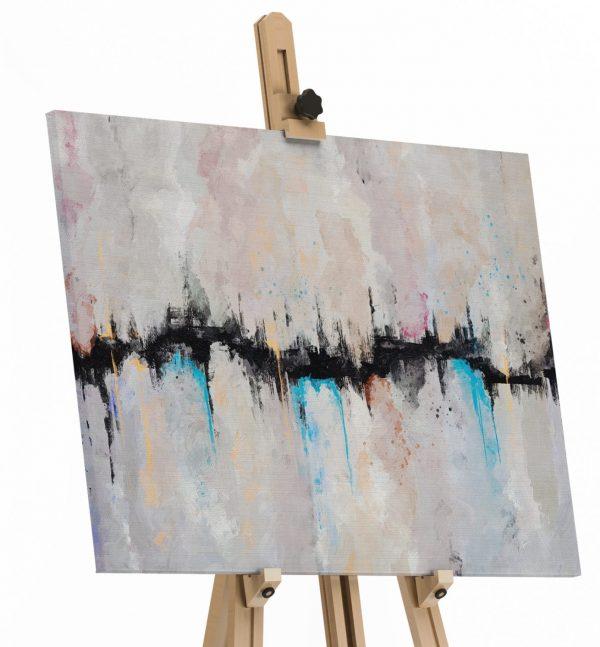 Quadro Abstrato Fenda em tela