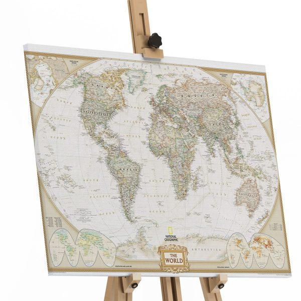 Quadro Map the world em tela