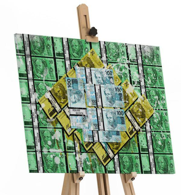 Quadro Brasil Money em filete