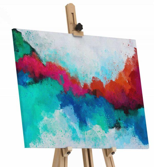 Quadro Abstrato Formas Coloridas tela de pintura