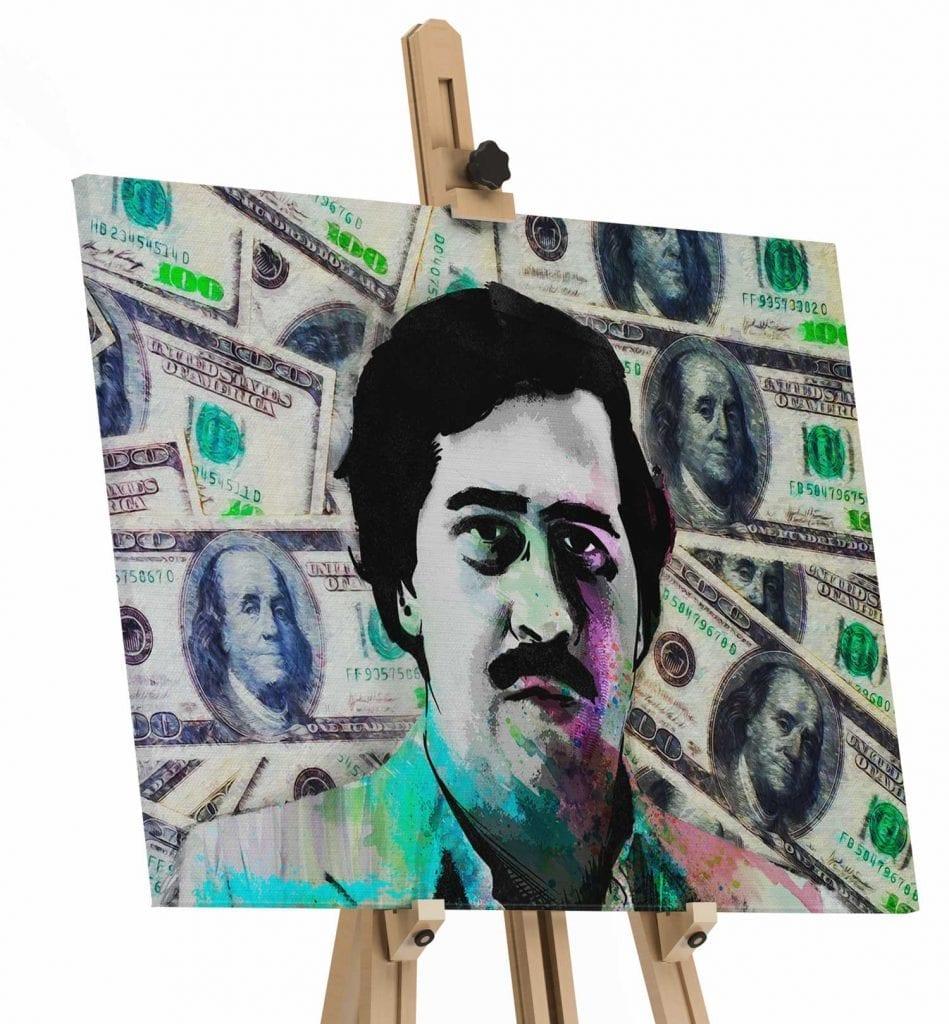 Quadro Pablo Escobar Especial Edition tela de pintura