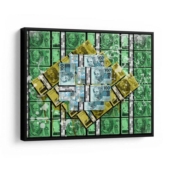 Quadro Brasil Money moldura