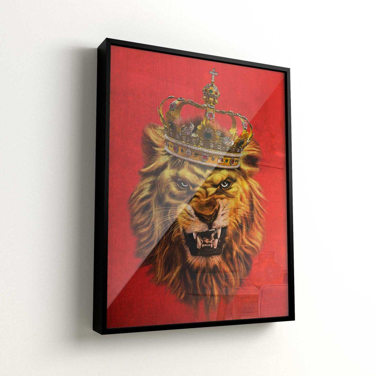 Quadro O Rei Leão moldura mais vidro