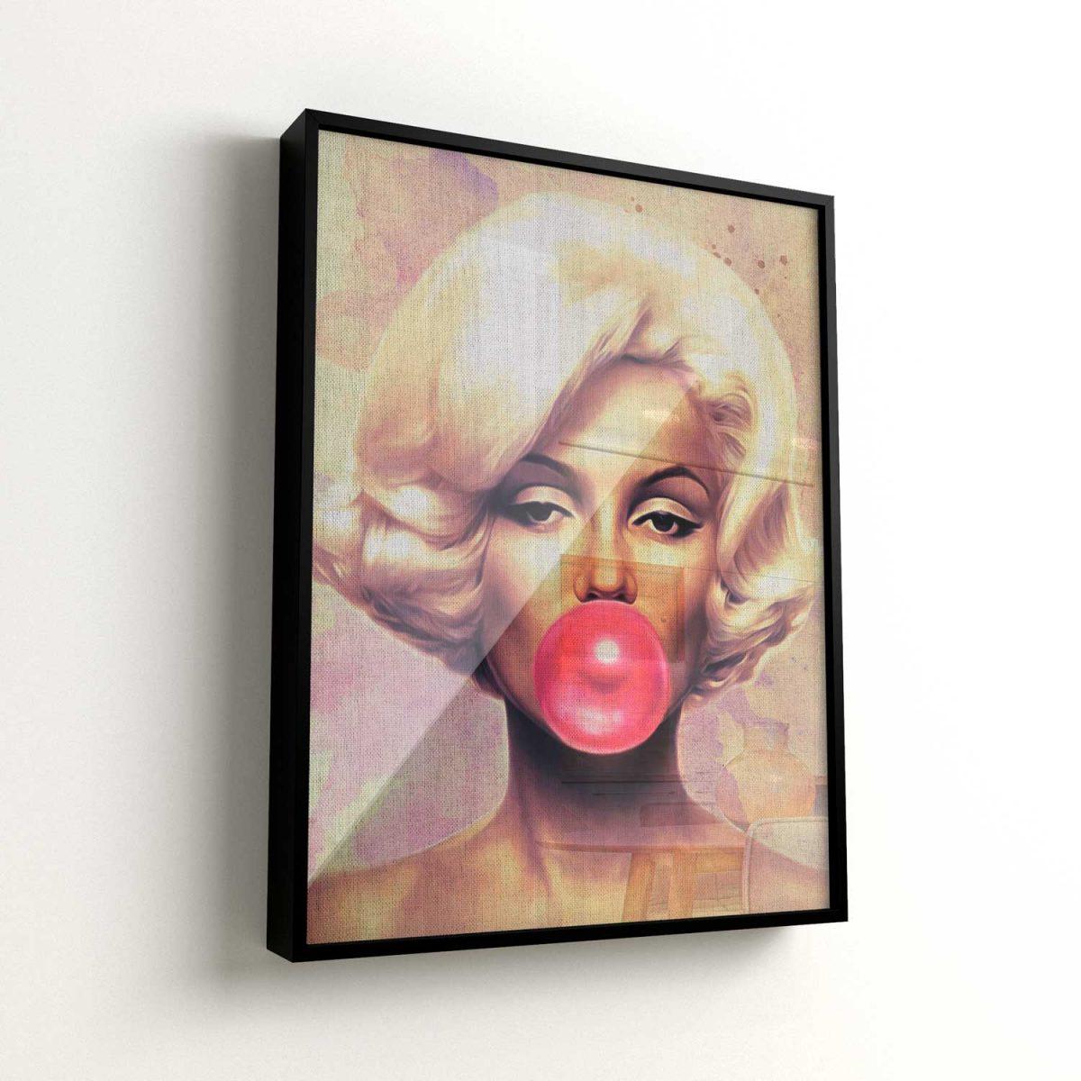 Quadro Invencível Marilyn Monroe moldura mais vidro