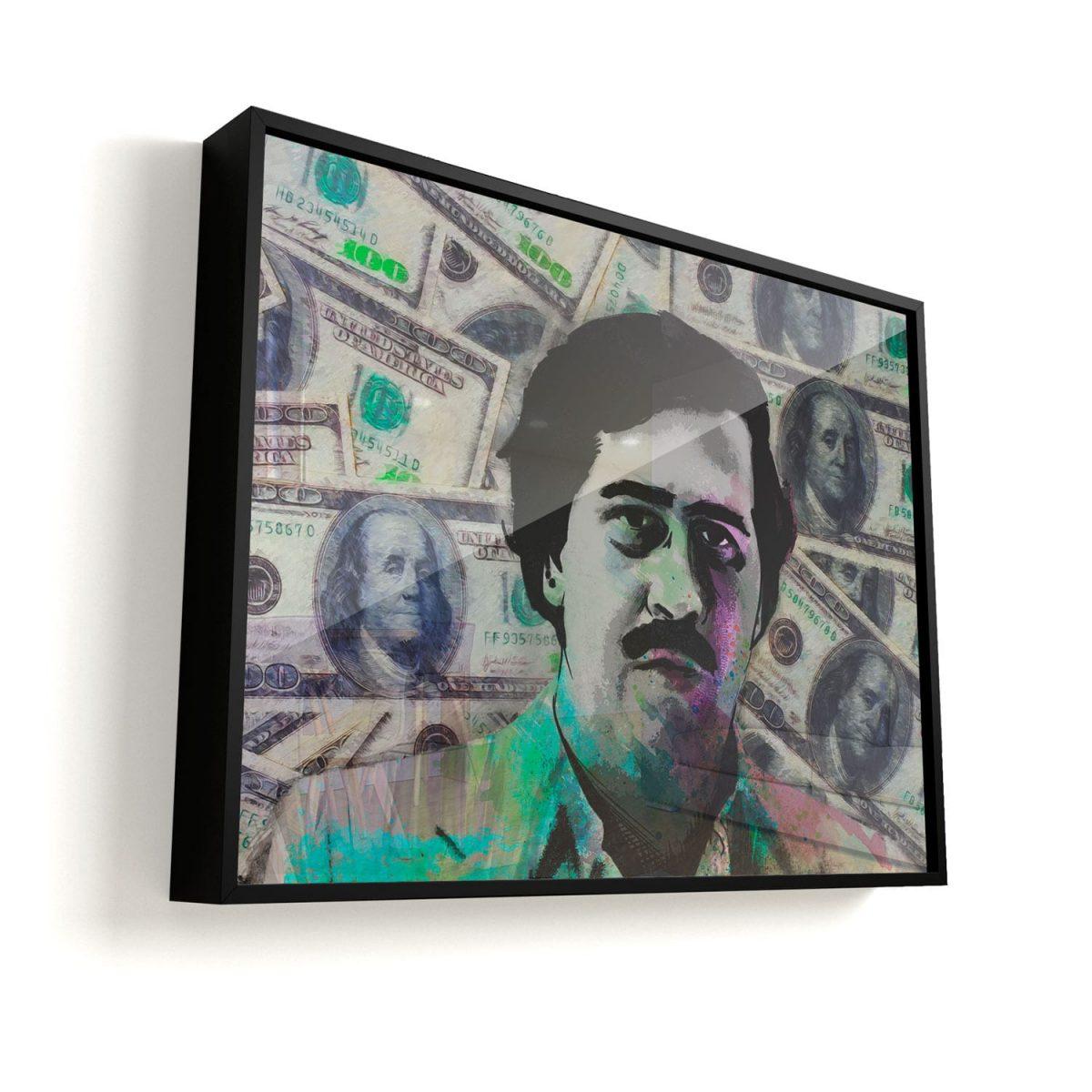Quadro Pablo Escobar Especial Edition vidro