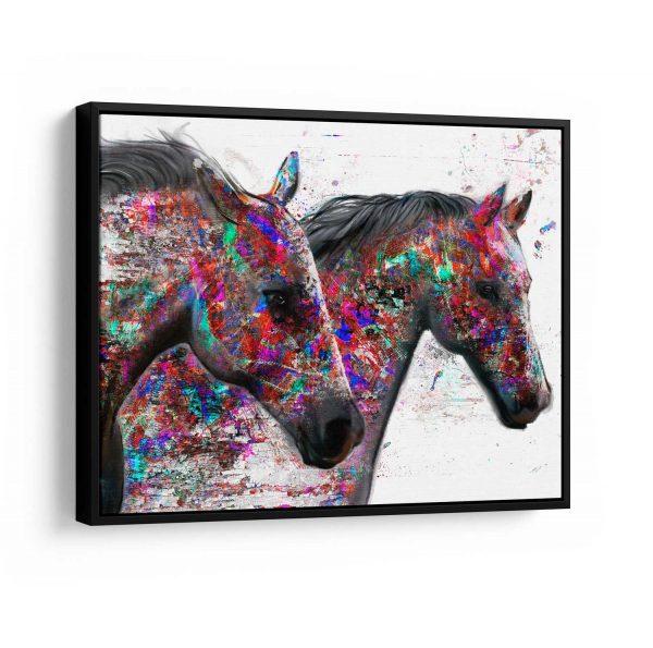 Quadro Cavalos Mágicos Horses com mldura