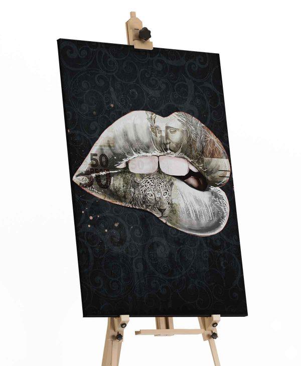 Quadro La Boca de Papel tela de pintura