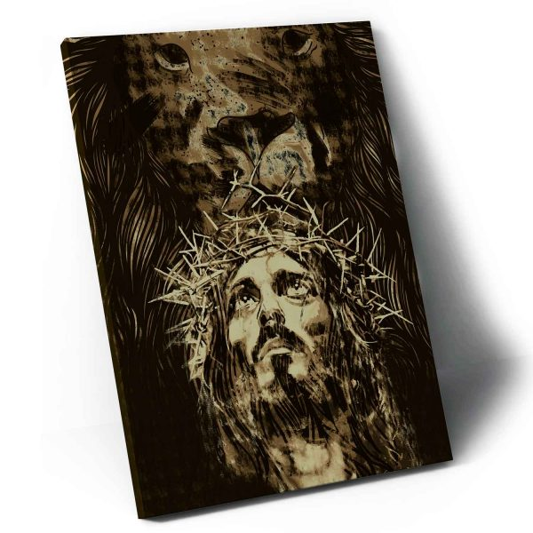 Quadro O Leão da Tribo de Judá – Jesus em tela