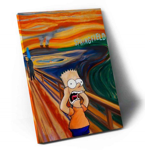 Quadro O Grito de Bart em Springfield em tela