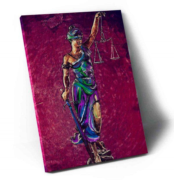 quadros para escritorio de advocacia Quadro Themis A Deusa da Justiça em tela