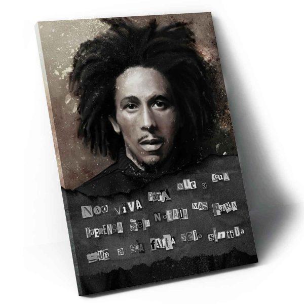 Quadro Bob Marley – O Rei do Reggae em tela