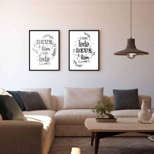 Inspire Transpire Realize em moldura com detalhe em branco e preto de frente