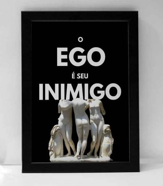 Quadro O Ego é Seu Inimigo A4 em tela