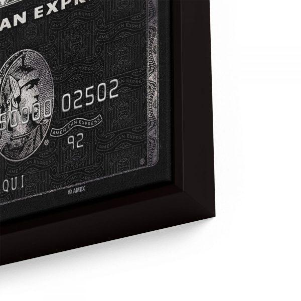 Quadro Personalizado Cartão American Express em filete com detalhe lado direito