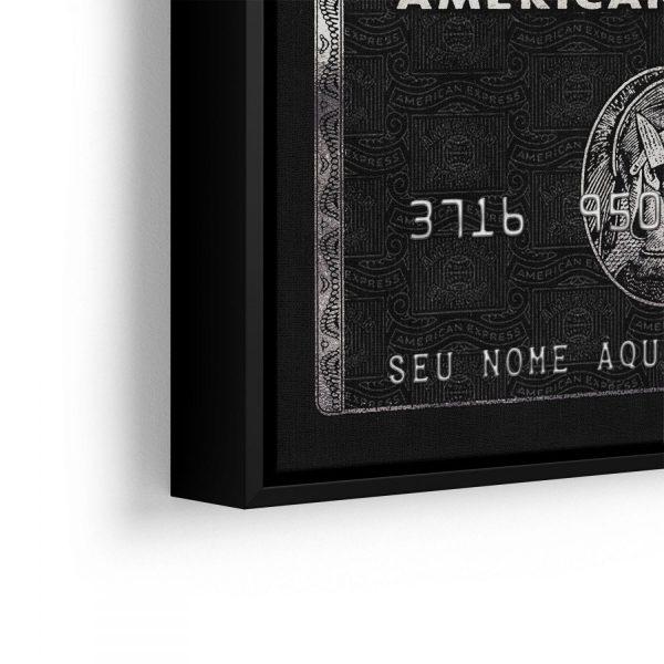 Quadro Personalizado Cartão American Express em filete com detalhe lado esquerdo