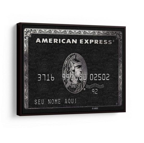 Quadro Personalizado Cartão American Express em filete