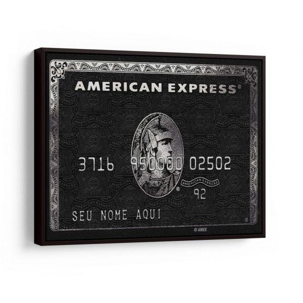 Quadros Decorativos Quadro Personalizado Cartão American Express em filete