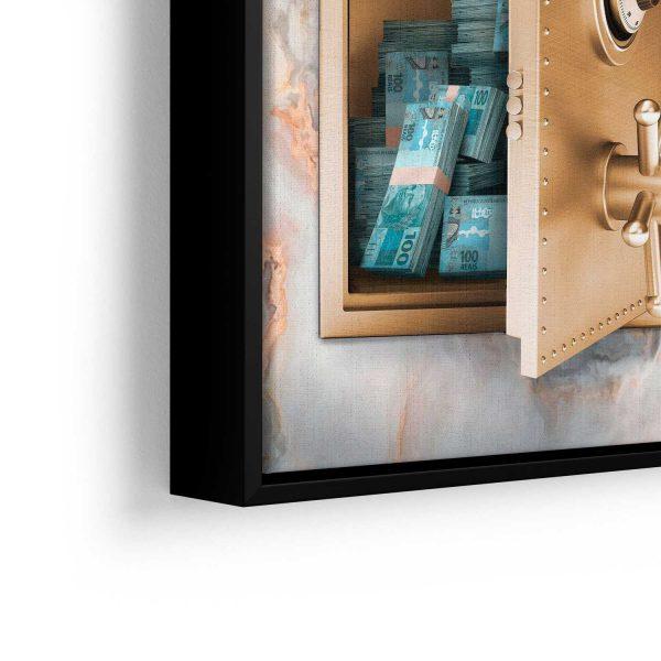 quadro decorativos quadro dinheiro detalhe de filete