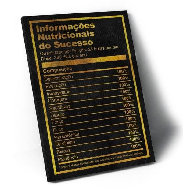 Quadro Informações Nutricionais Do Sucesso em filete