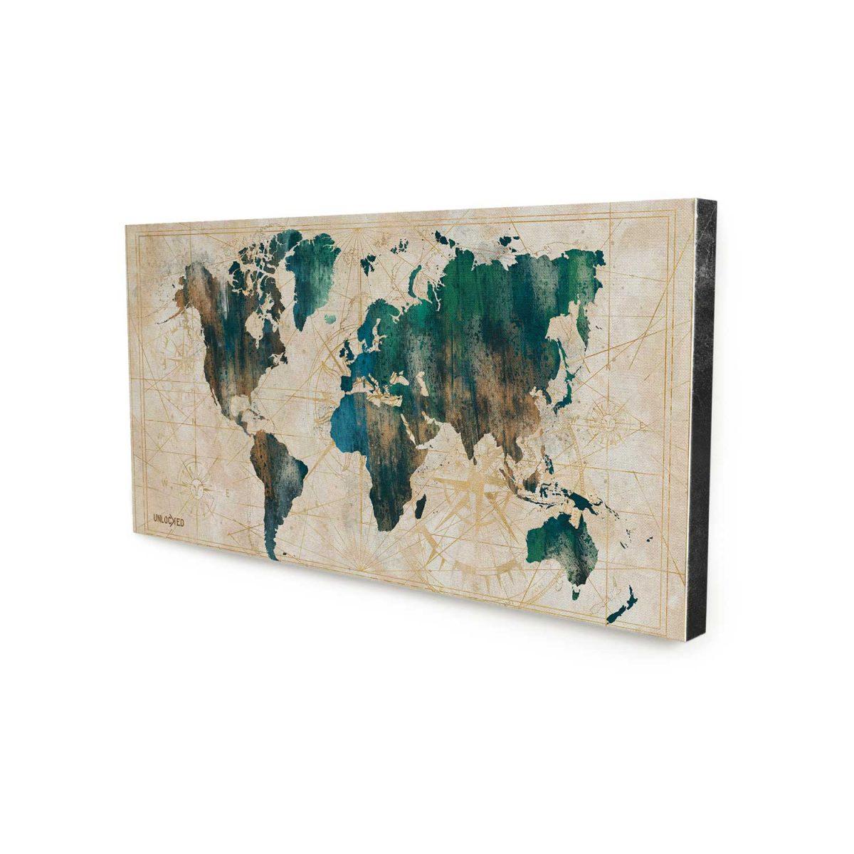 Quadro Mapa Cartográfico sem moldura