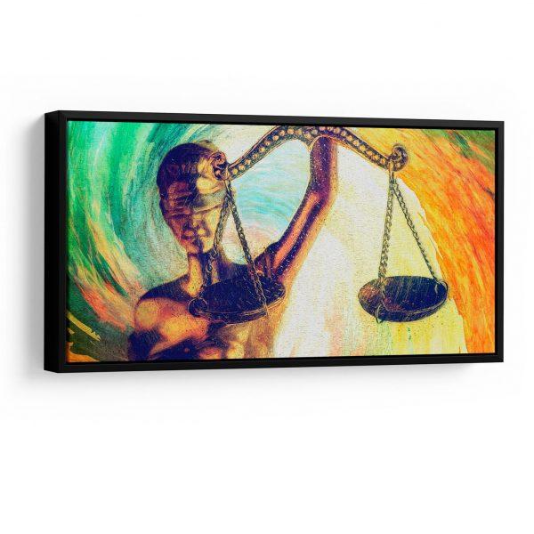 Quadro Balança da Justiça em filete