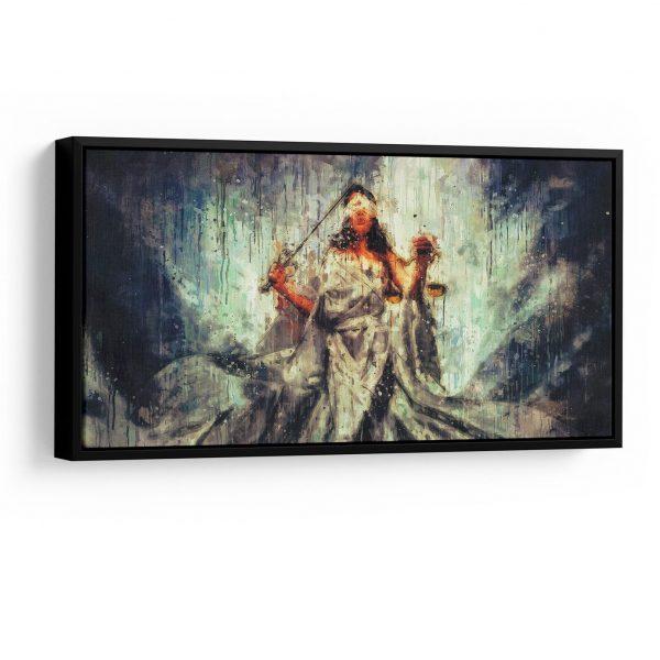 quadros para escritorio de advocaciaQuadro Quadro Thémis, Deusa da Justiça 5 peças em filete com detalhe