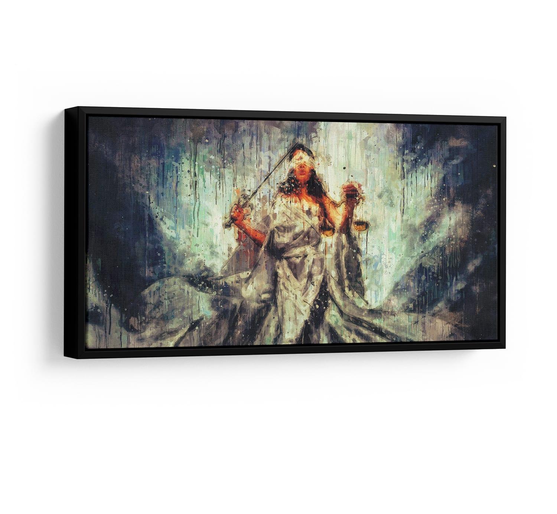 Quadro Deusa da Justiça Themis Femida - Opaca