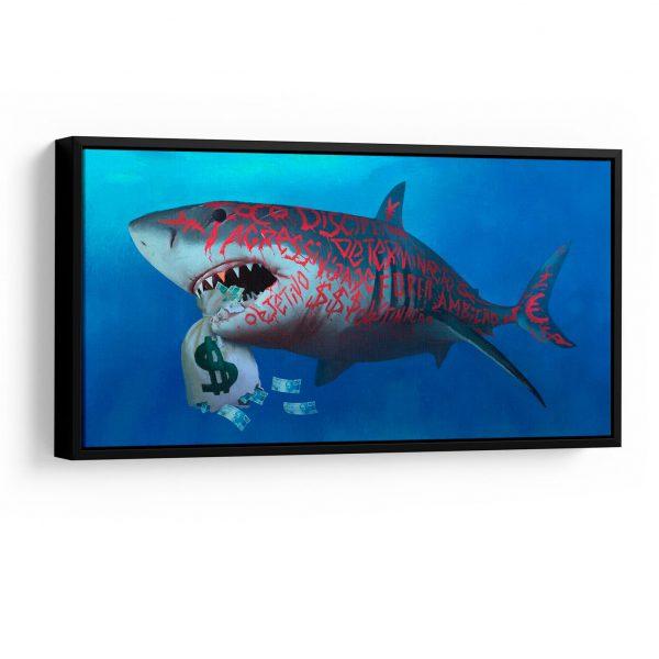 Quadro Tubarão Milionário em filete