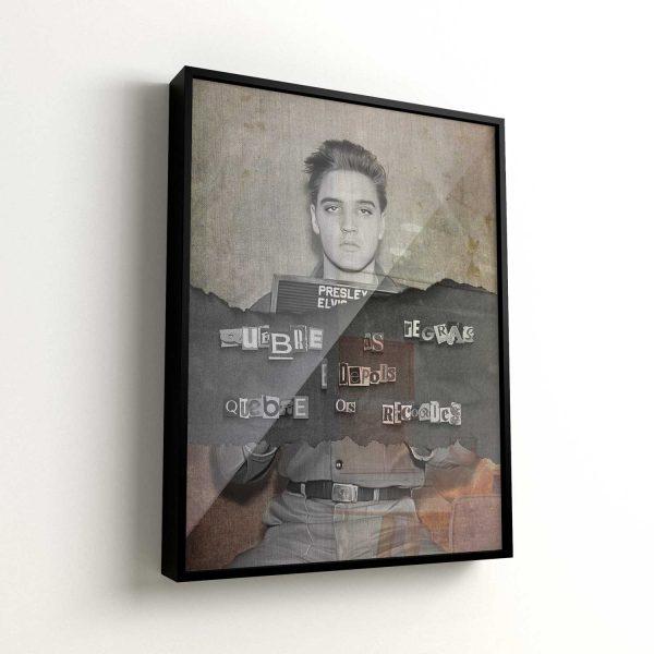 Quebre as Regras e Depois Quebre Recordes Elvis Presley moldura mais vidro