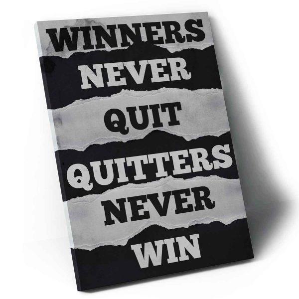 Winners Never Quit em tela