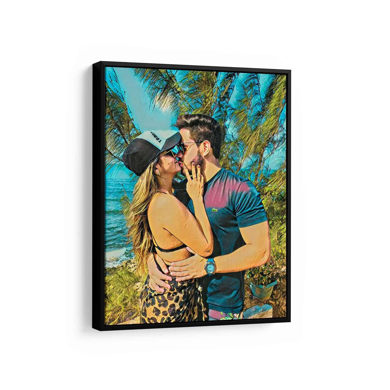 Presente para Namorada - Transforme uma Foto dela em um Quadro de Pintura