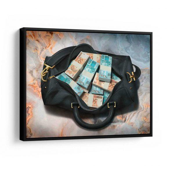 Quadros Decorativos Quadro Bolsa de Dinheiro em filete
