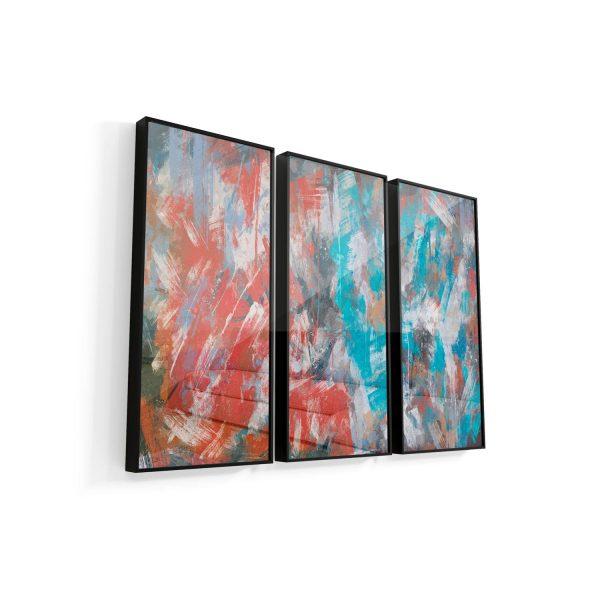 Quadro Abstrato Pinceladas moldura mais vidro