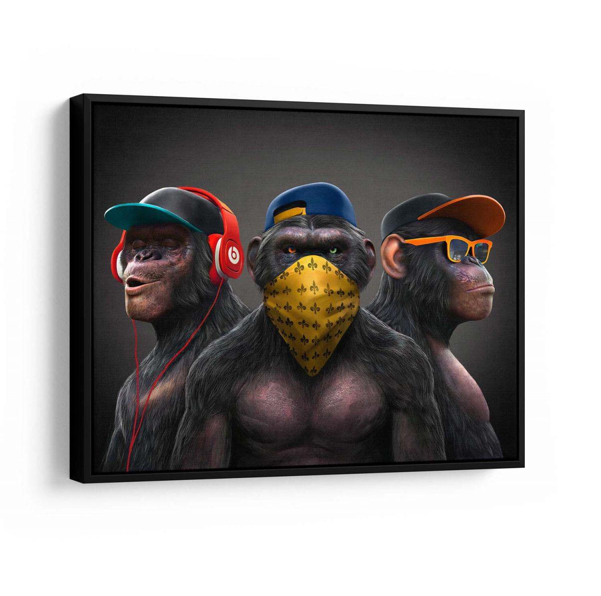 Quadros Decorativos Gangue dos Macacos moldura