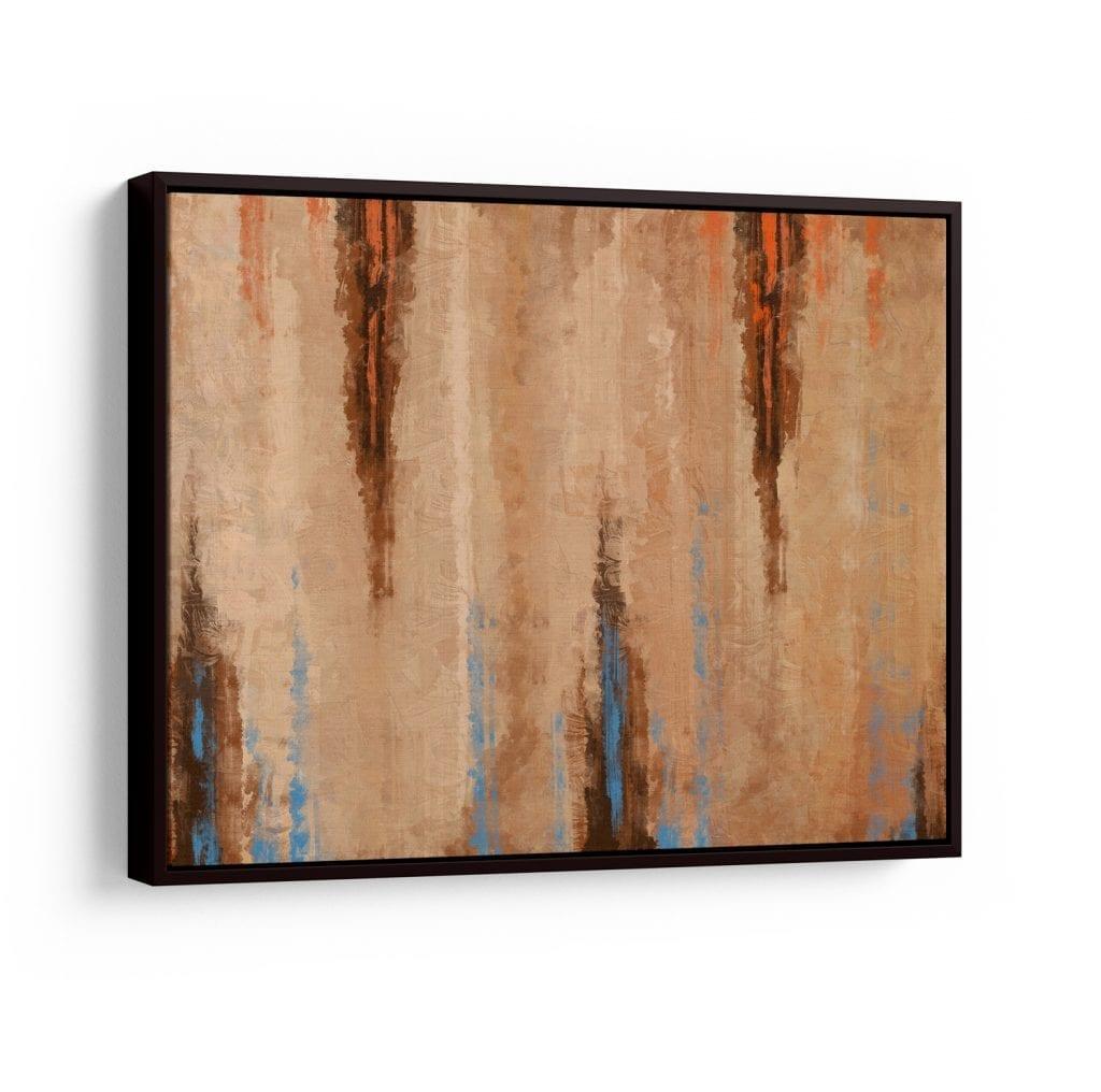Quadro abstratos coloridos para casa - areia