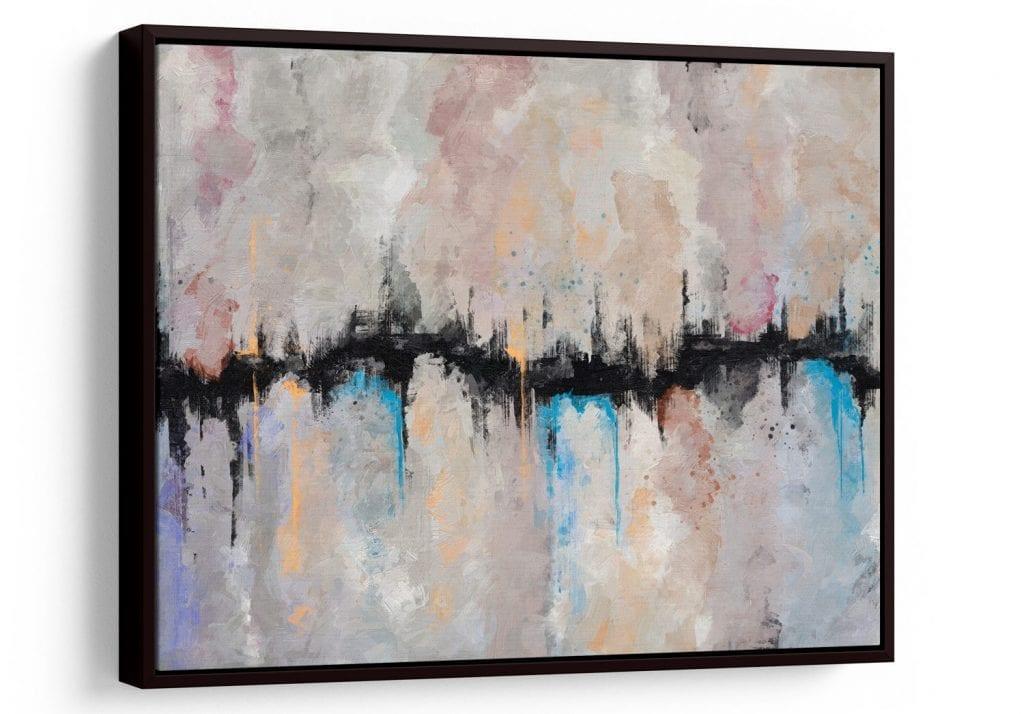 Quadro abstratos coloridos para quarto - Quadro Abstrato Fenda