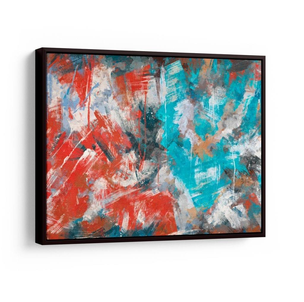 quadro colorido abstrato - pinceladas
