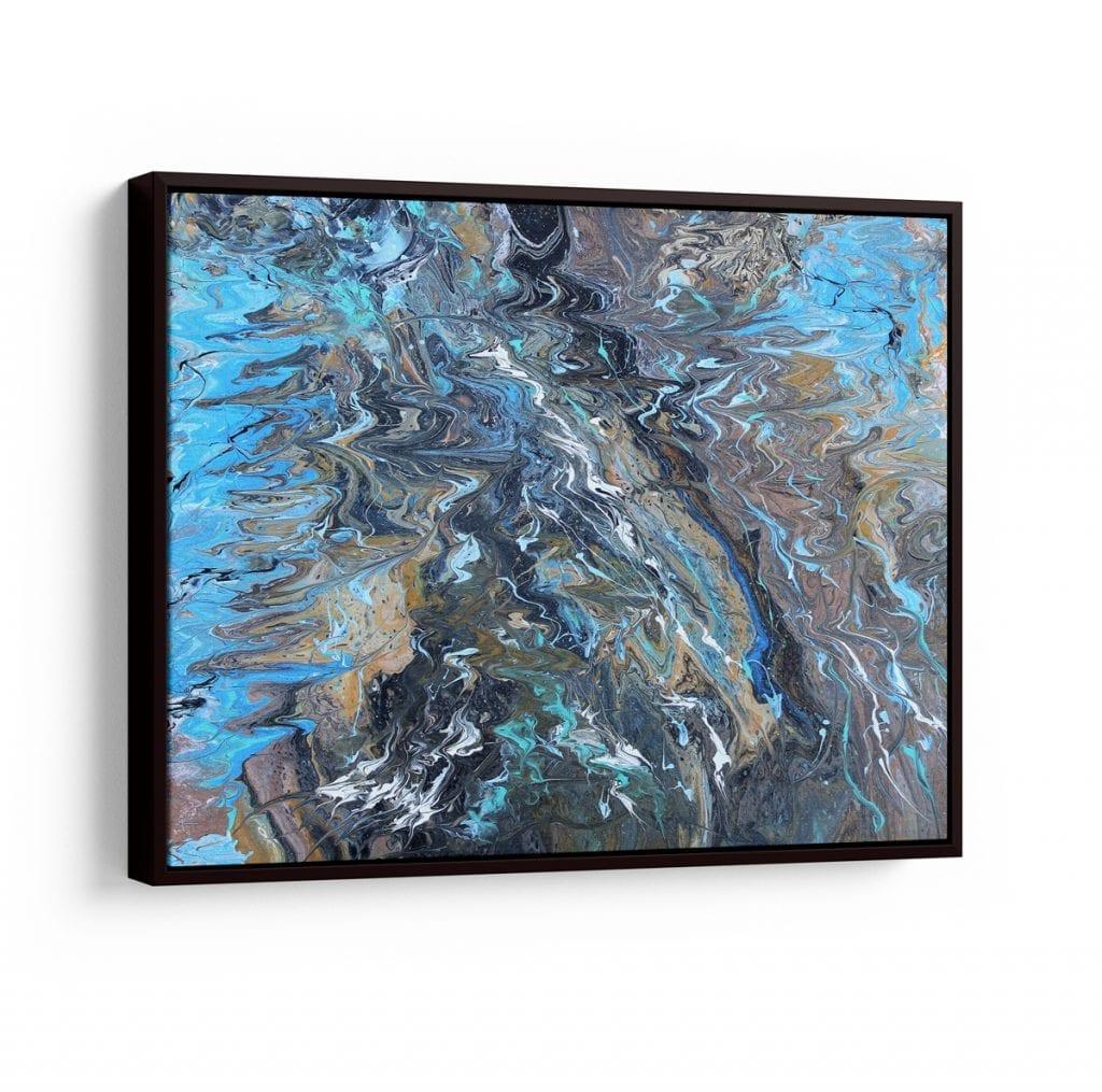 quadros abstratos coloridos - águas nórdicas