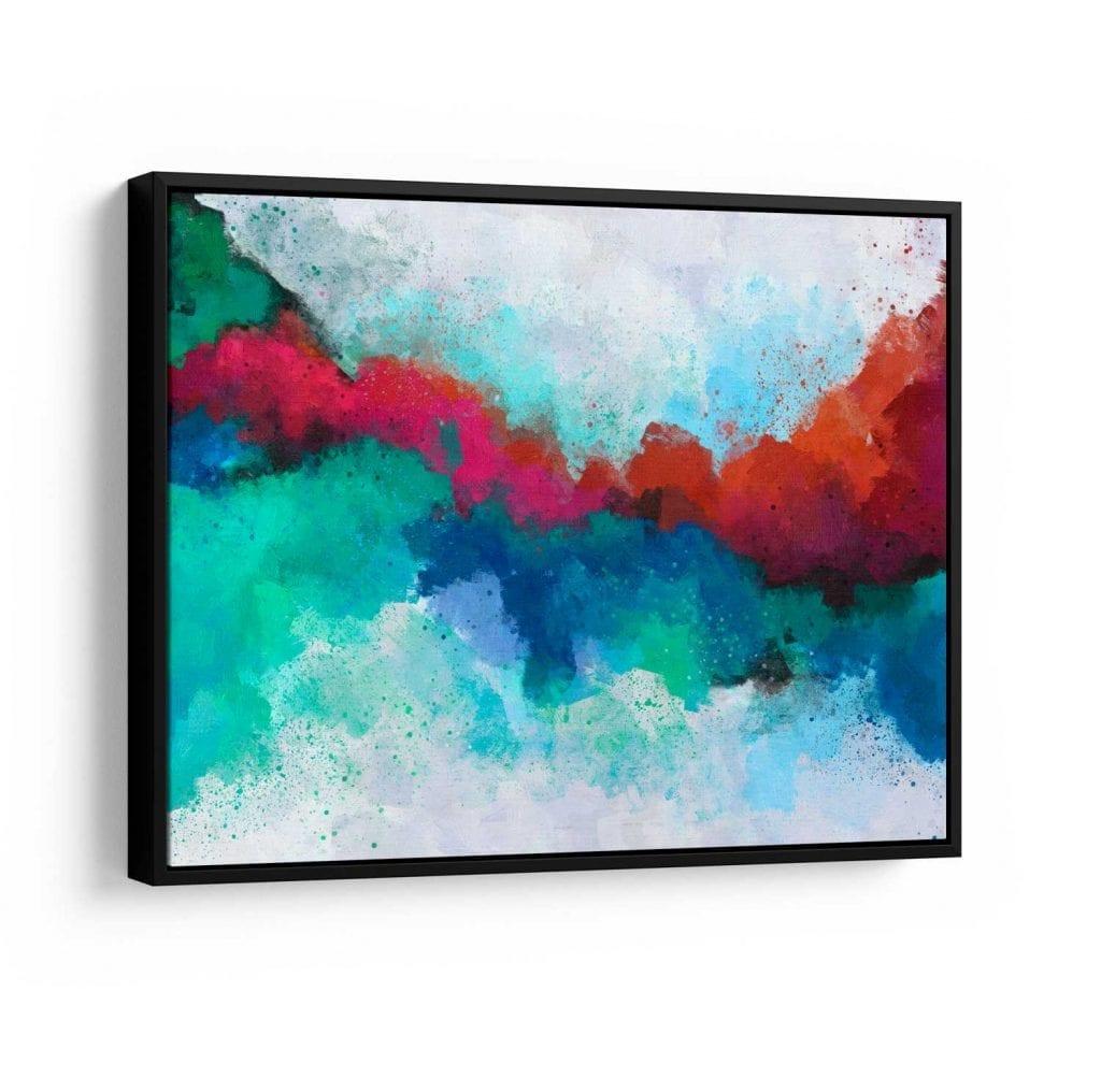 quadro abstrato colorido - formas coloridas