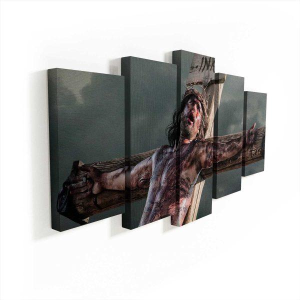 quadro jesus misericordioso 5 peças apresentação
