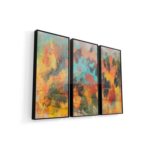 Quadro Abstrato Corado moldura mais vidro