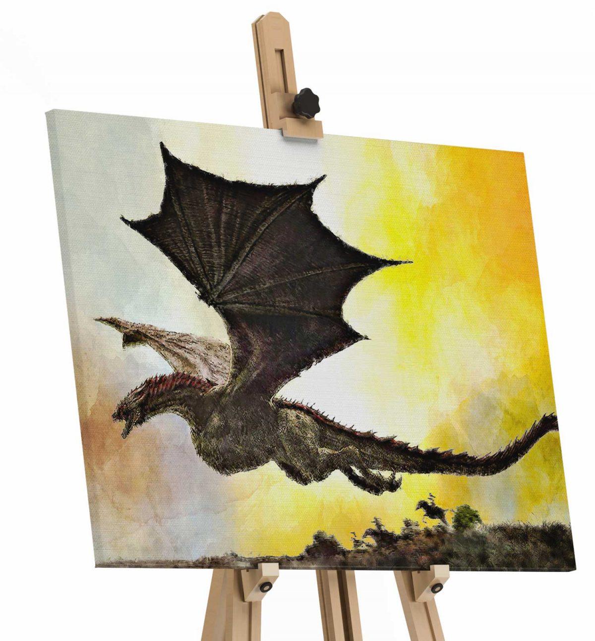Quadro DRONGON tela de pintura