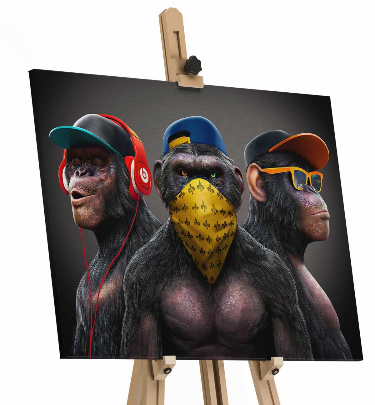 Quadro Gangue dos Macacos tela de pintura