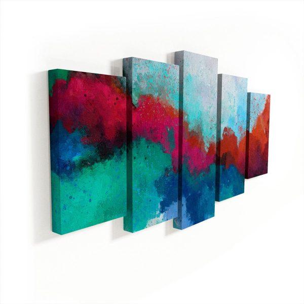 Quadro Abstrato Formas Coloridas sem moldura