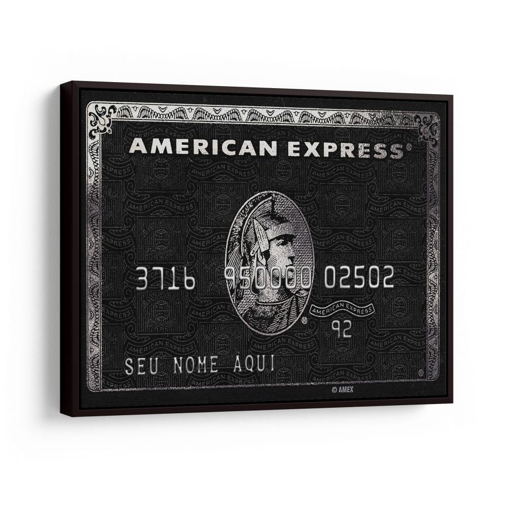 quadro personalizado american express para dia dos namorados