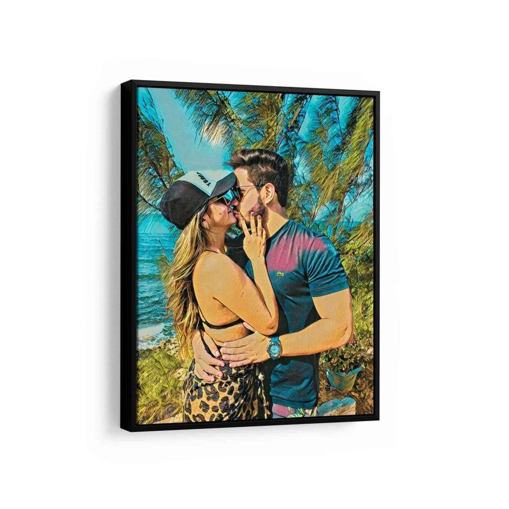 quadro sua foto em pintura para dia dos namorados