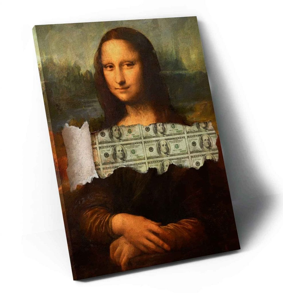 quadro abstrato colorido - Quadro A Incrível Money Lisa