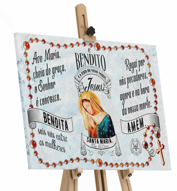 Quadro Oração Ave Maria